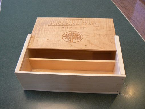 Custom Made Personalized Wine Bottle Crate