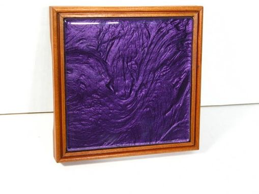 Custom Made Trivets Made Of Hardwoods And Glass Tiles