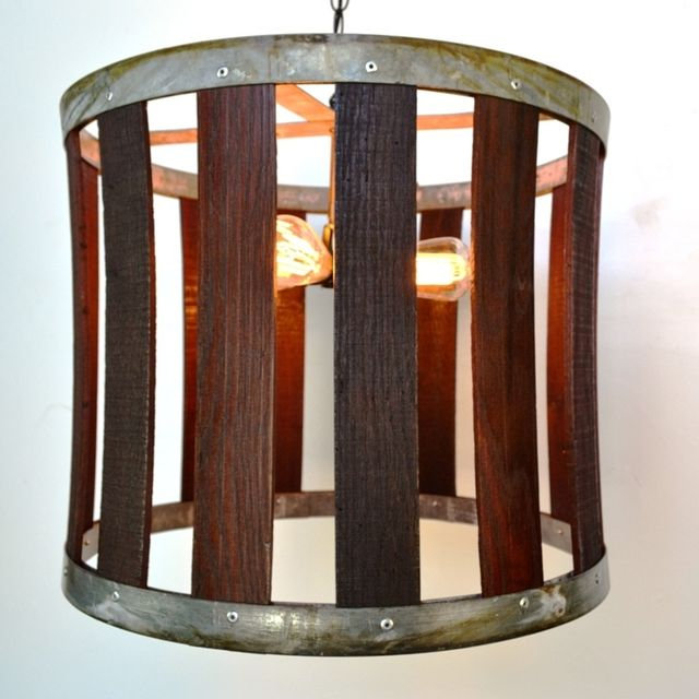 Buy a hand made craftsman drum barrel stave chandelier made to buy a hand made craftsman drum barrel stave chandelier made to order from wine country craftsman custommade mozeypictures Gallery