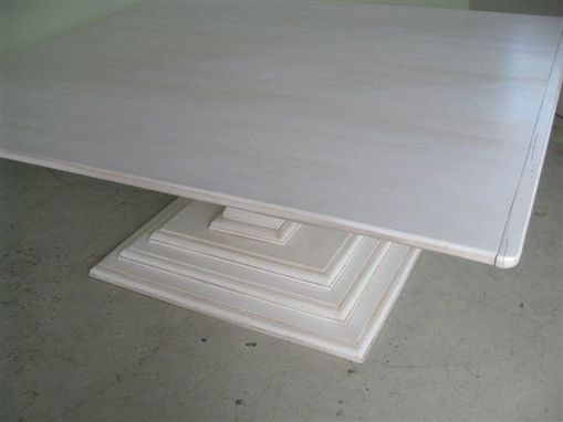 Custom Made Square Dining Table Pedestal Base