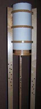 Custom Made Maple Floor Lamp