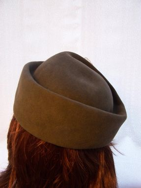 Custom Made Dark Gray Fur Felt Brimless Hat