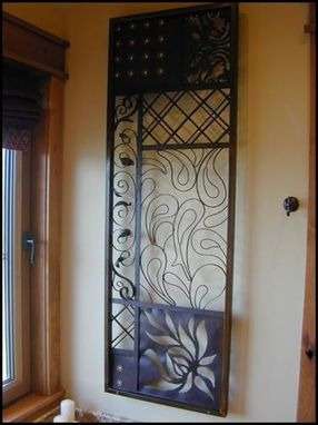 Custom Made Fabric Panel In Steel