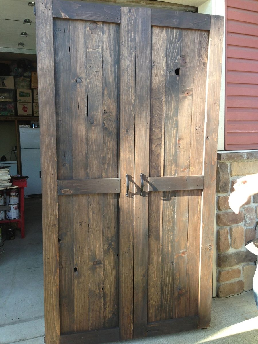 Hand crafted reclaimed wood armoire pantry by sweetpea for Armoire palette bois