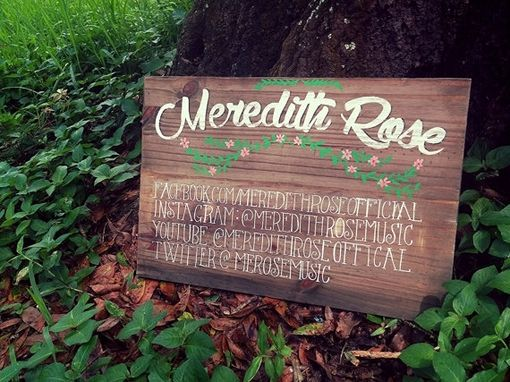 Custom Made Hand Lettered Sign