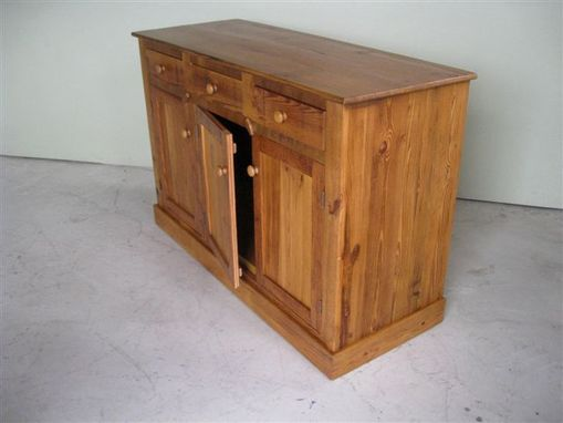 Custom Made Barnwood 3 Door & 3 Drawer Pine Server