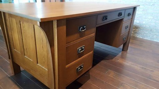Custom Made Cherry Desk And Bookcases