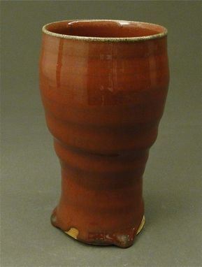Custom Made Stoneware Cup, Copper Red Glaze, (Sku 46)