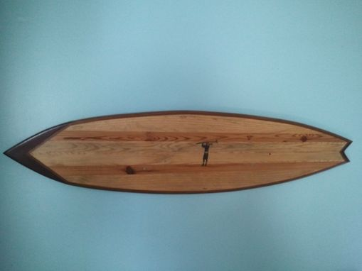Custom Made Large Surfboard Wall Art W Added Design