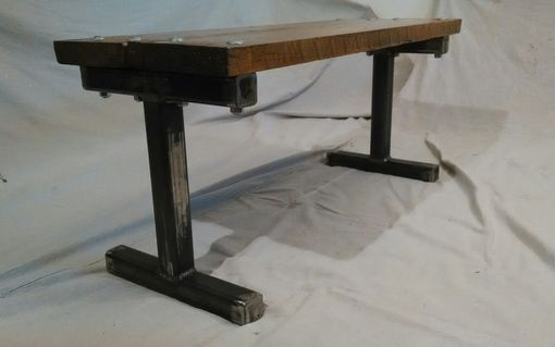 Buy A Handmade Reclaimed Pallet Wood Bench With Carriage Bolts Frame, Made To Order -6832