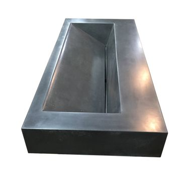 Custom Made 60in Concrete Floating Trough Sink