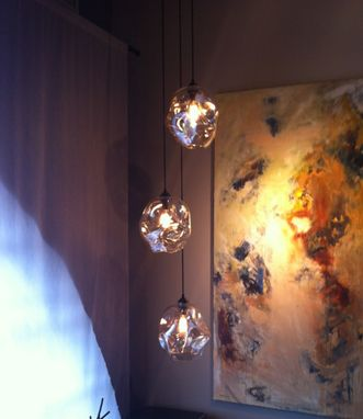 Custom Made Halo Blown-Glass Lighting