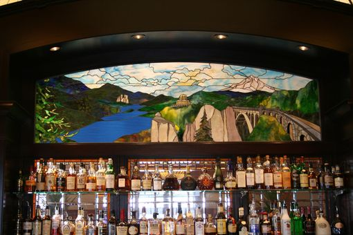Custom Made Columbia Gorge Stained Glass Window