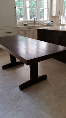Custom Made Contemporary Walnut Dining Table