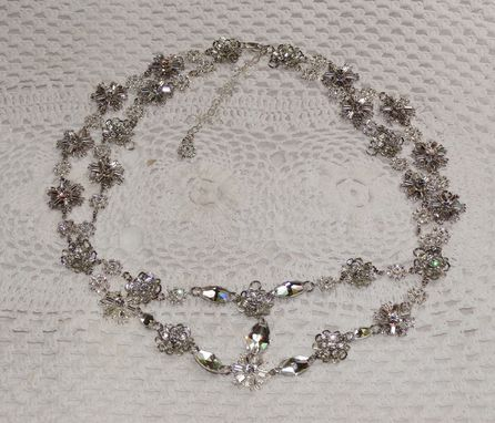 Custom Made Swarovski Crystal Bridal Headpiece - Weddings, Special Occasions
