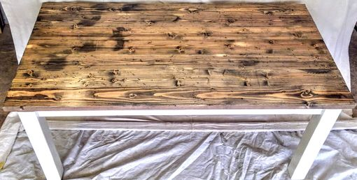 Custom Made Knotty Pine Table And Benches