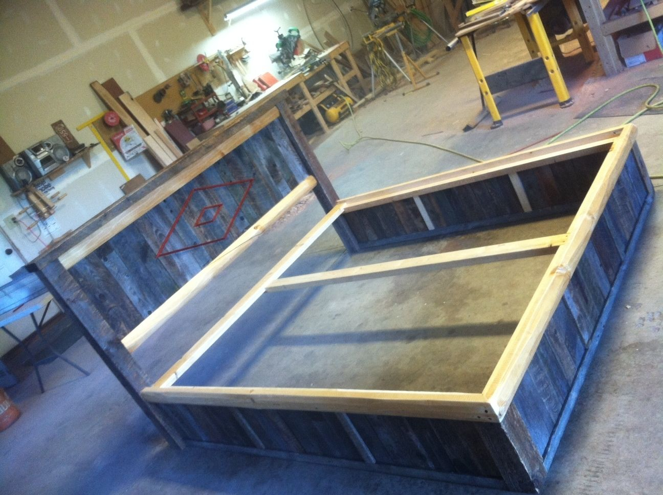 Custom Made Barn Wood Reclaim Platform Bed By Droptine