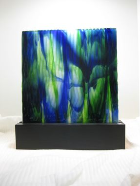 Custom Made Award Fused Glass Sculpture