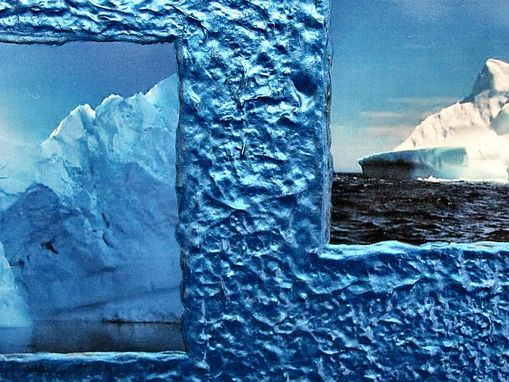 Custom Made Iceberg Photo Collage Frame