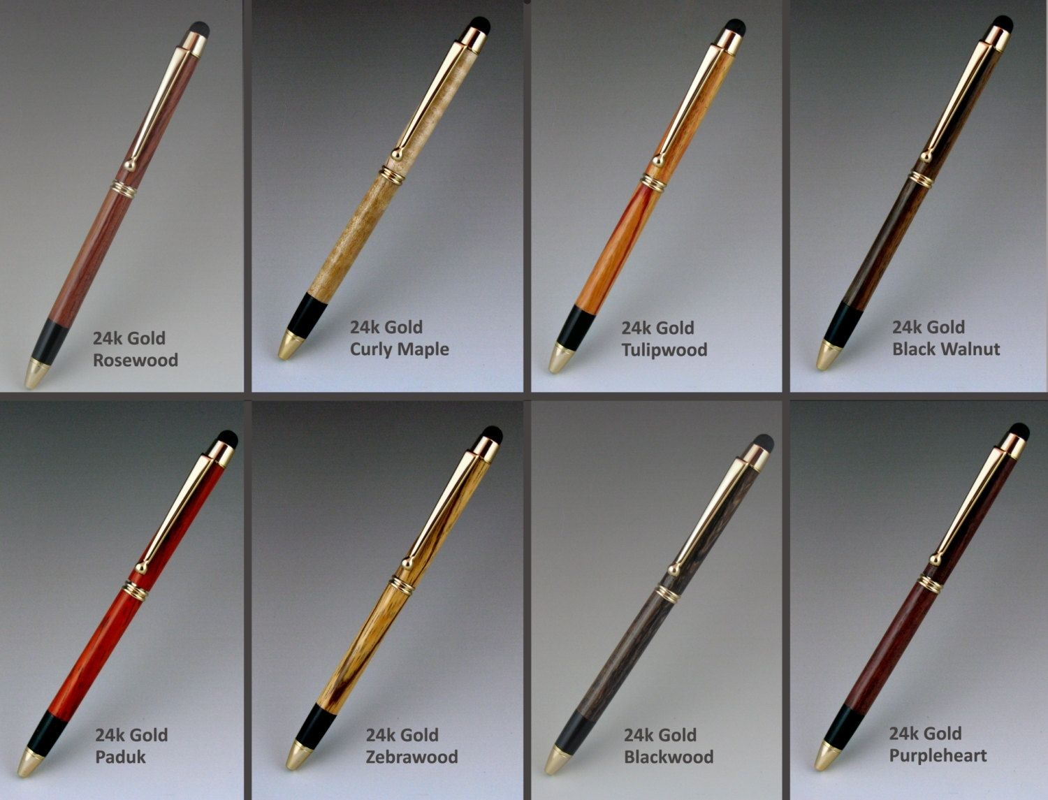 custom made touch stylus pen exotic wood body