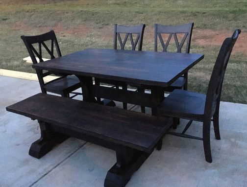 Custom Made Pedestal Style Farmhouse Dining Room Table