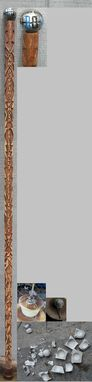 Custom Made Carved Swagger Stick