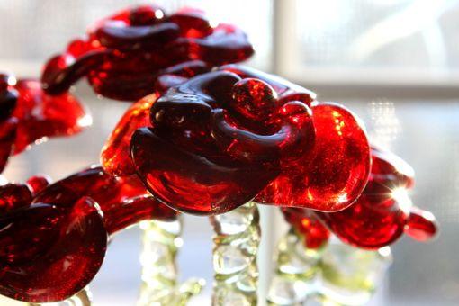 Buy A Custom Dozen Glass Roses Flower Long Stemmed Untamed