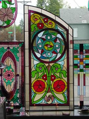 Custom Made Stained Glass Kitchen Door Panel