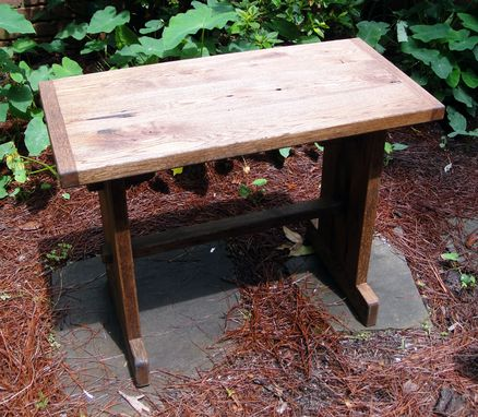 Custom Made 34 Inch Table Made From Reclaimed Oak