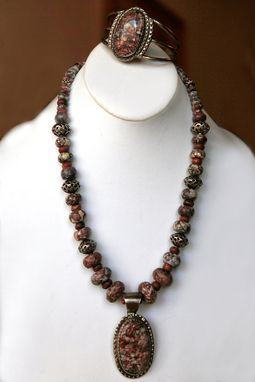 Custom Made Extraordinary Graduated Rondelles Of Appaloosa Jasper Ith Red Creek Accent Beads