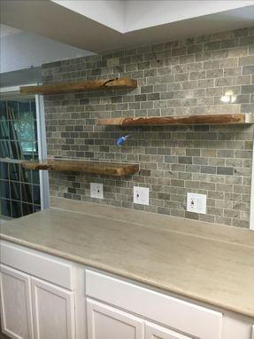 Hand Crafted Shelf Floating Shelf Wood Shelf Live Edge