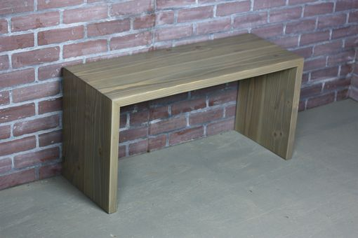 Custom Made Waterfall Bench, Modern Design, Miter Bench, Contemporary Bench