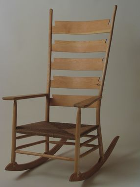 Custom Made Ladder Back Rocking Chair