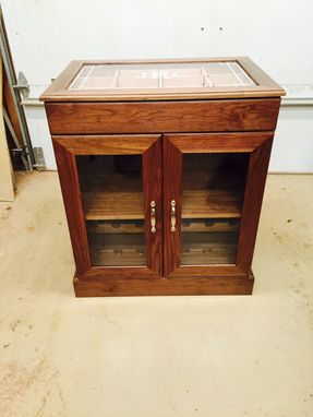 Custom Made Cigar And Alcohol Cabinet