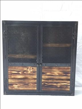 Buy A Hand Crafted Industrial Hand Made Liquor Cabinet