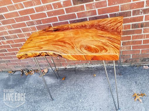 Custom Made Live Edge Desk- Fijian Mahogany- Side Table- End Table- Console Table- Foyer Table- Laptop Desk