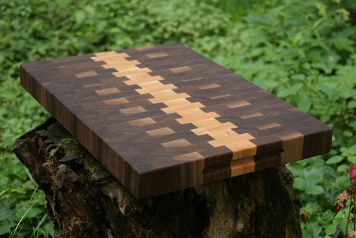Custom Made Black Walnut Cherry End Grain Cutting Board Butcher Block