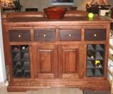 Custom Made Cherry Wine Center
