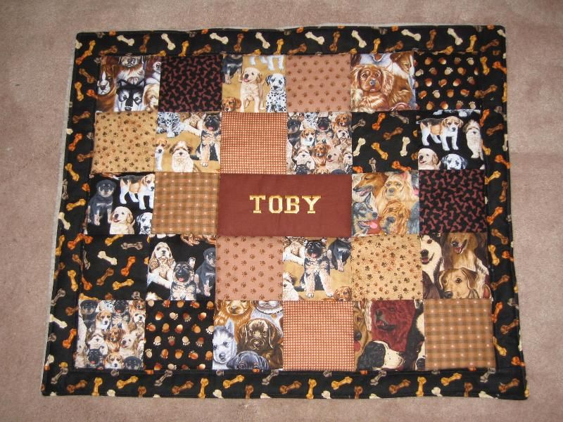 Hand Crafted Custom Dog Quilt by Kindred Souls | CustomMade.com : custom made quilts with pictures - Adamdwight.com