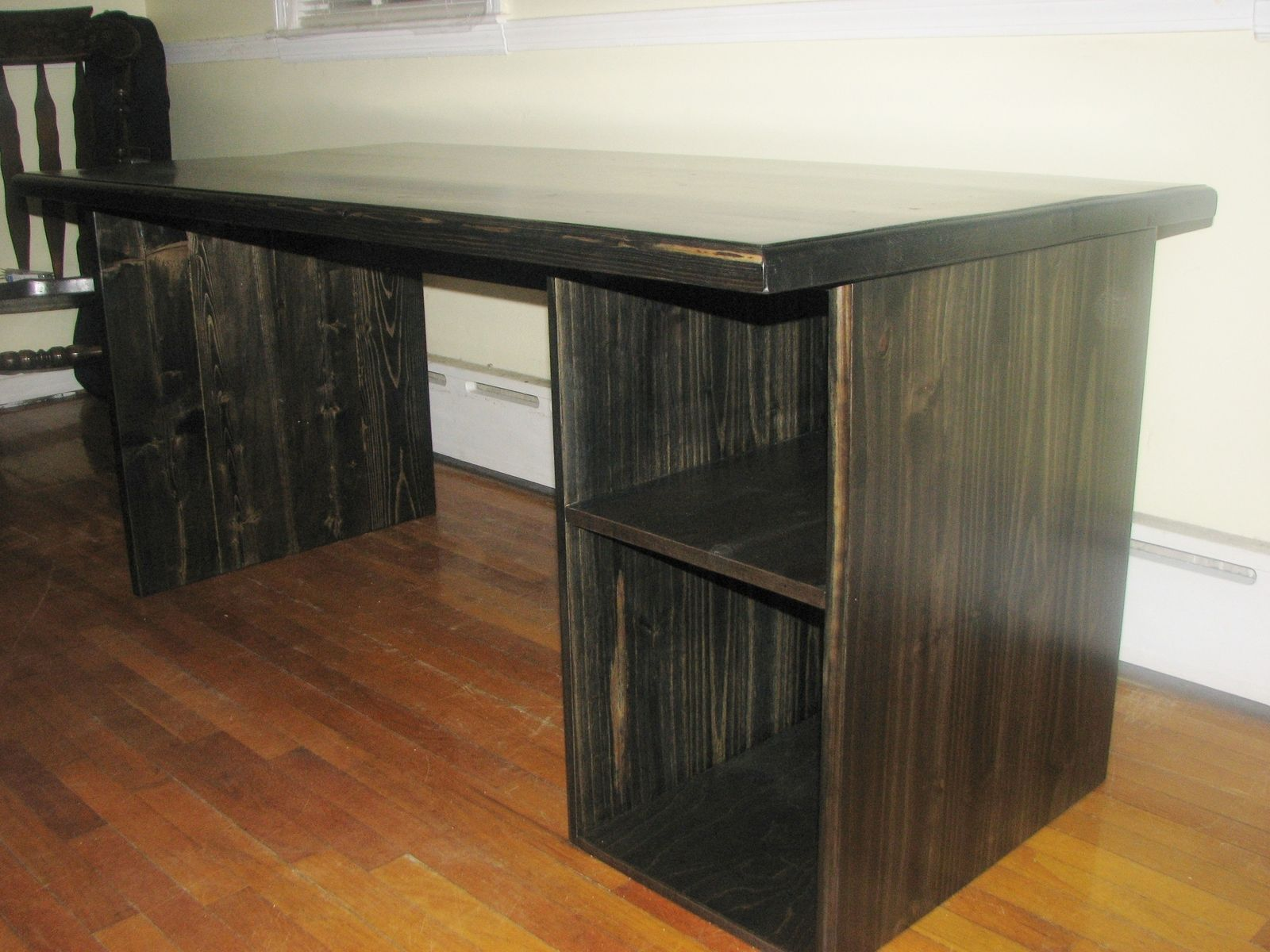 Custom Made Custom Modern Ebony Computer Desk