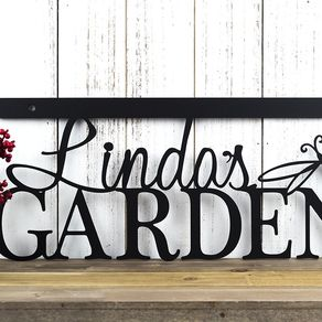 Personalized Garden Sign Free Shipping Metal Decor 18in X 8in