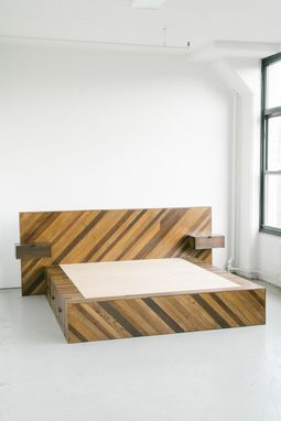 Custom Made Storage Platform Bed - Dark