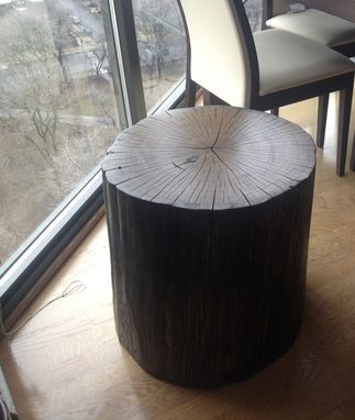 Custom Made Custom Large Side Table | 100 Year Old Minnesota Oak