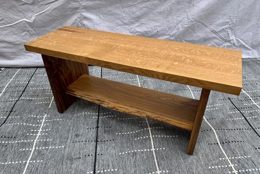 Custom Made Oak & Walnut Bench