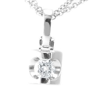 Custom Made Diamond Pendant In 14k White Gold, Ladies Pendant