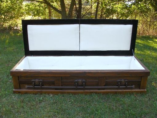Custom Made Hand Built Reclaimed Wood Celtic Custom Casket