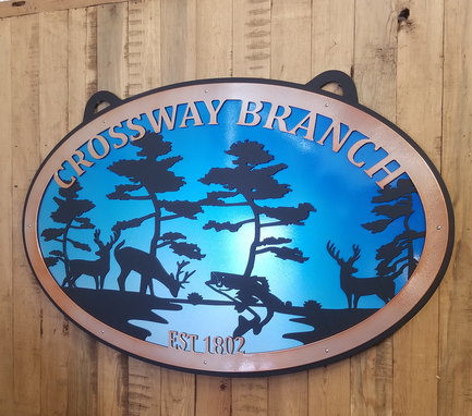 Custom Made Aluminum Powder Coat Nature Sign