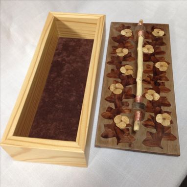 Custom Made Keepsake Box With Marquetry Inlay