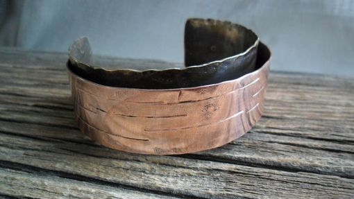 Custom Made Brass And Copper Double-Band Cuff Bracelet