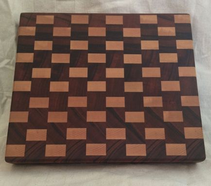 Custom Made The Coolest All Cherry End Grain Chopping Block